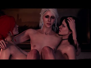 (Sound)Triss Merigold&Yennefer&Ciri futanari on female [The Witcher 3;Porn;Hentai;Dickgirl;R34;Sex;SFM;порно;секс;фута]