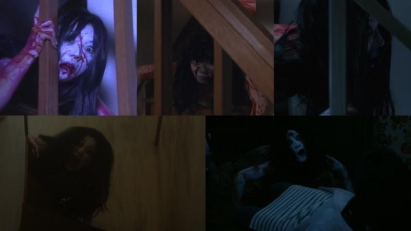 Каяко спускается с лестницы Все сцены из серии фильмов Проклятие