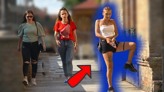 Girl Peeing in Public Prank!  - Pranksters amuse and gross out passers-by with water bottle trick