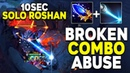 WTF! SOLO ROSHAN KILL IN 10 SECONDS WITH SCEPTER BUG ABUSE by TOP 1 GRANDMASTER TINKER SPAMMER