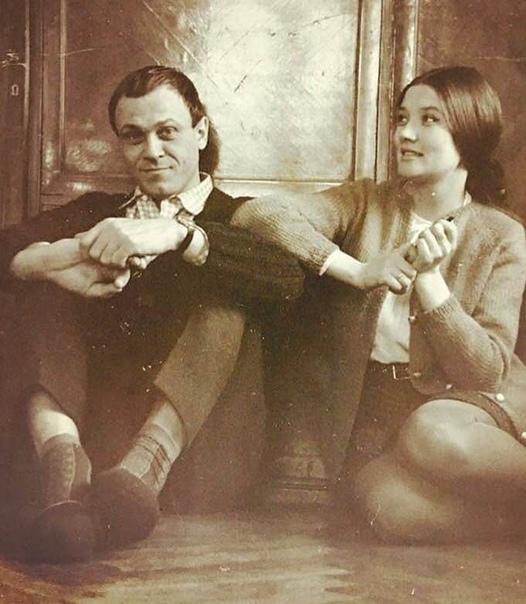 Весьма редкое фото. Меньшов и Алентова. Как молоды мы были...