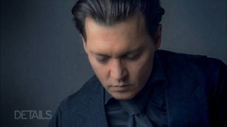 Johnny Depp Plays Guitar at the Details 2015 Cover Shoot