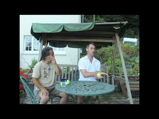 Tanden - Tennis ball exercise Yoshi Shibata with Piers Cooke Sensei