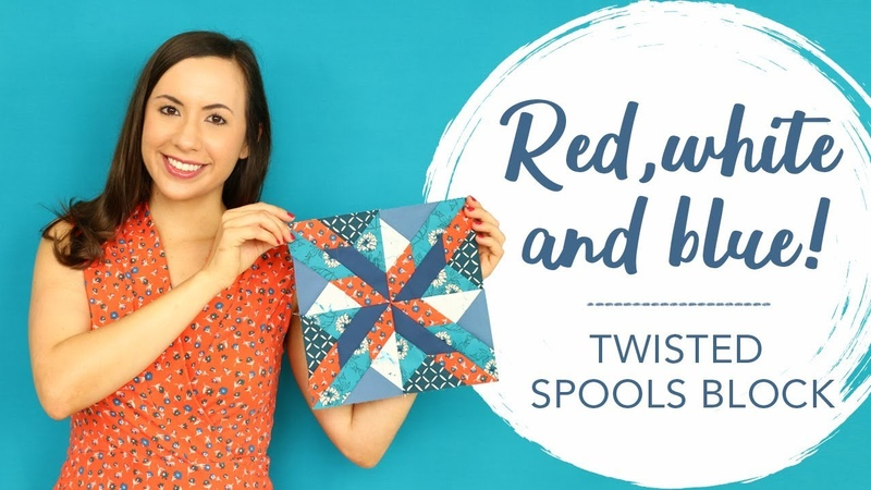 Quilting Tutorial How to Sew a Twisted Spools Block