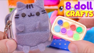 8 DIY Doll Crafts + Miniature Pusheen Backpack