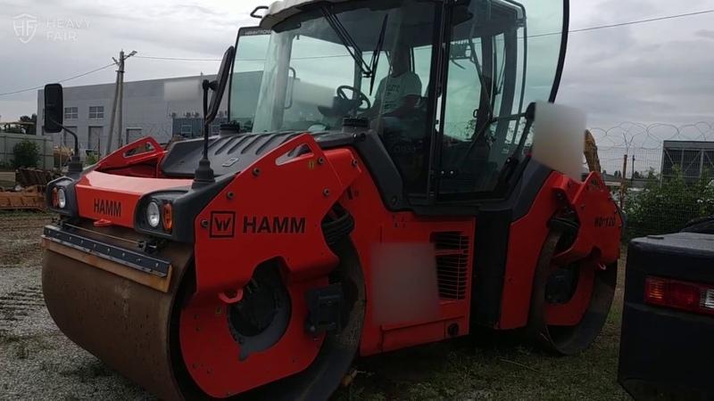 Асфальтный каток Hamm HD 120 VV продается на HEAVY FAIR Видео диагностика асфальтного катка