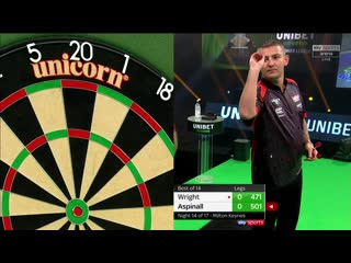 Peter Wright vs Nathan Aspinall (PDC Premier League Darts 2020 / Week 14)