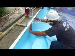 Установка пленки для бассейна RENOLIT ALKORPLAN TOUCH Vanity