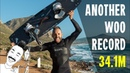 NEW WOO RECORD 34 1M Big Air Kitesurfing Get High With Mike Not official yet