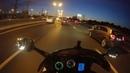 сегодня на мотоцикле. нашел чье-то видео про езду по мкад, ночная гонка.