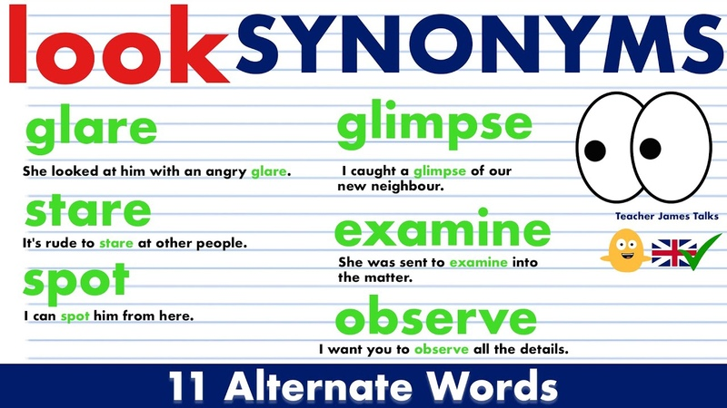 Instead of Saying 'LOOK' Use These Alternate Words Synonym Words in English