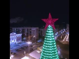 Новогодняя ёлка на площади Салавата Юлаева в Уфе. 2020