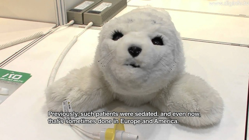Cute Baby Seal Robot PARO Theraputic Robot DigInfo