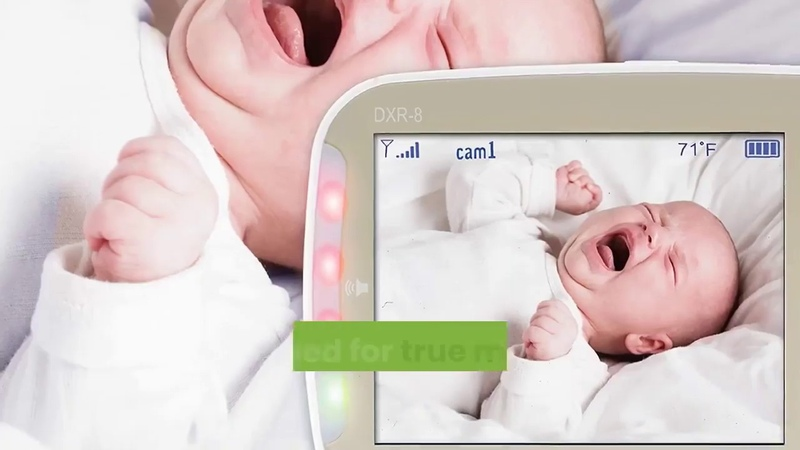 Infant optics dxr 8 video baby monitor with interchangeable optical lens