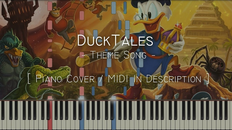 Theme Song (DuckTales) - Synthesia Piano Tutorial