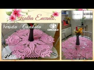 🌸 Toalha Encanto em Crochê. Versão Canhoto 1/2 Por Vanessa Marcondes