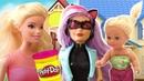 Игры в куклы Барби! Барби и Штеффи, игры с пластилином Плей До. Видео про приключения Барби Сборник