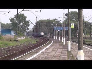 Trzebinia dworzec PKP dwa pociagi towarowe