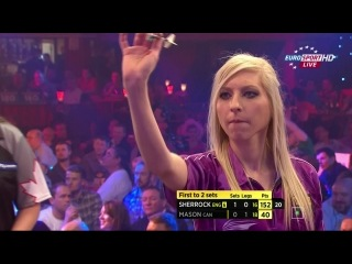 Fallon Sherrock vs Maria Mason (BDO World Darts Championship 2015 / Round 1)