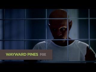 Пятый сник-пик седьмой серии второго сезона сериала Wayward Pines (Уэйуорд Пайнс / Сосны)