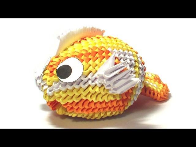 3D origami koi fish tutorial (remake)
