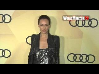 Maggie Q from Nikita arrives at Audi 2013 Golden Globe Awards Kickoff  Week Party