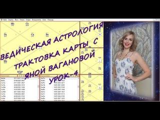 Ведическая астрология. Трактовка карты с Яной Вагановой. Урок 4