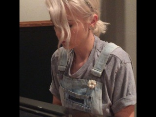 Mika Newton: Messing around at the studio .I have a lot of ideas for my new songs