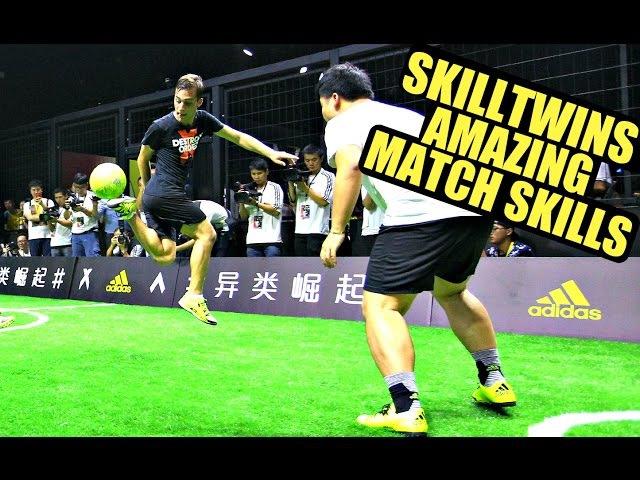 SkillTwins INSANE Football Match Skills ★ GoalsNutmegsDribblings