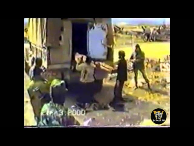 18 Чечня. Пленные боевики в Комсомольском 2000г.