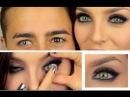 Desio Forest Green на светлых глазах и Innocent White на карих мужских глазах