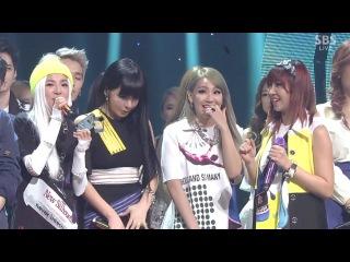  Выступление  2NE1 - COME BACK HOME @SBS Inkigayo No.1.