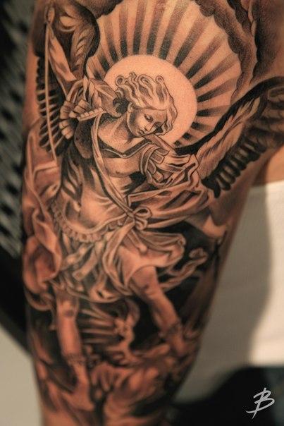 archangel michael tattoo - 643×965