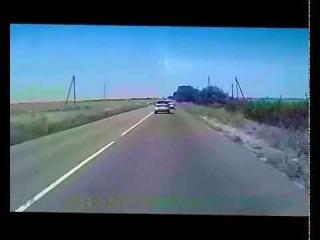 Обгон трех машин через сплошную с 0:45