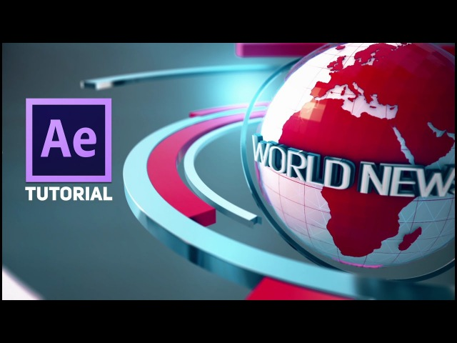Adobe After Effects 3D Broadcast News Open Tutorial Element 3D