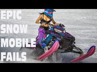 Crazy Snowmobile Crash and Fails Compilation 2016    Fails United