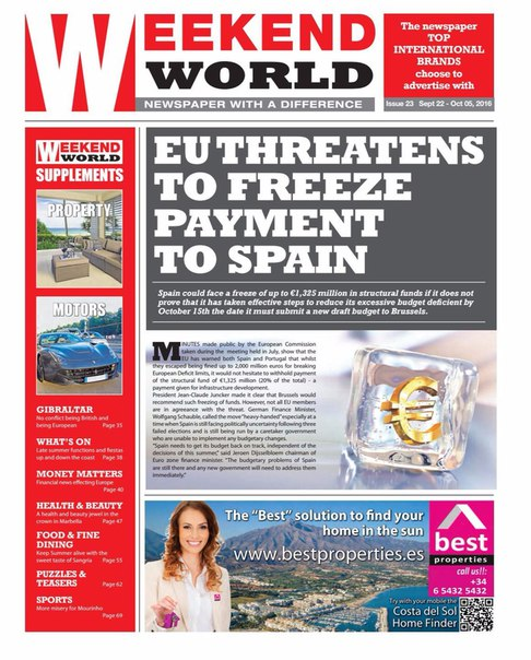 Weekend World - Issue 23- September 22 - October 5 2016