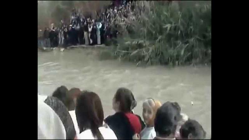 Великое чудо Божие на Крещение Поворот реки Иордан вспять