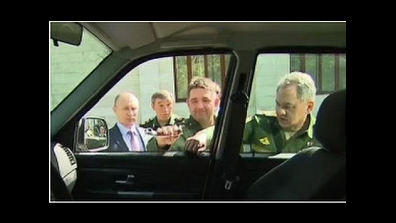 Генерал оторвал ручку у УАЗ Патриот показывая Путину новую технику