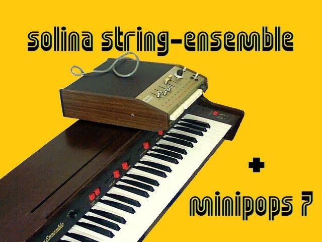 ARP SOLINA STRING ENSEMBLE 1973 with MINIPOPS 7 DEMO