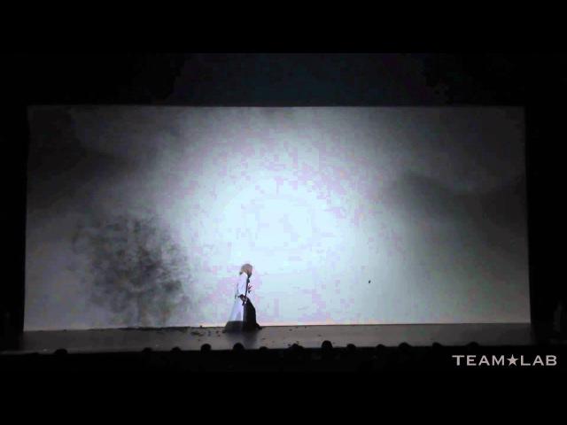 Sword Dance and Shadowgraph - Taichi Saotome X TEAMLAB