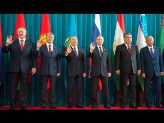 Владимир Путин на заседание Совета глав государств СНГ