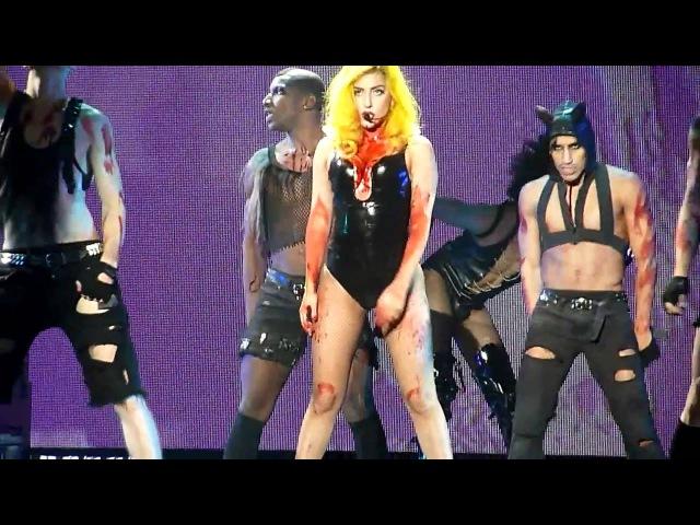 Lady Gaga Teeth The Monster Ball @ Malmö Arena 19 11 2010 HD