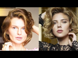 Скарлетт Йохансон ОБЪЕМНЫЕ ЛОКОНЫ САМА!  ВСЕ САМА! / Hairstyle Scarlett Johansson(KatyaWORLD)