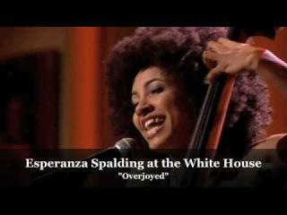 Esperanza Spalding at the White House honoring Stevie Wonder