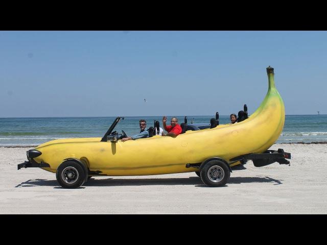 Banana Car Inventor Turns Pick-Up Truck Into Driveable Banana