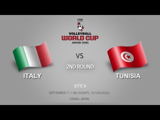 Italy vs Tunisia / 17 Sep / 2nd Round / Site A / FIVB Volleyball Men's World Cup 2015