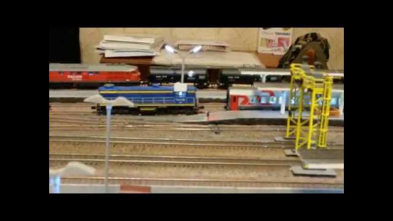 N Scale LS Models RZD Cars and shunting work