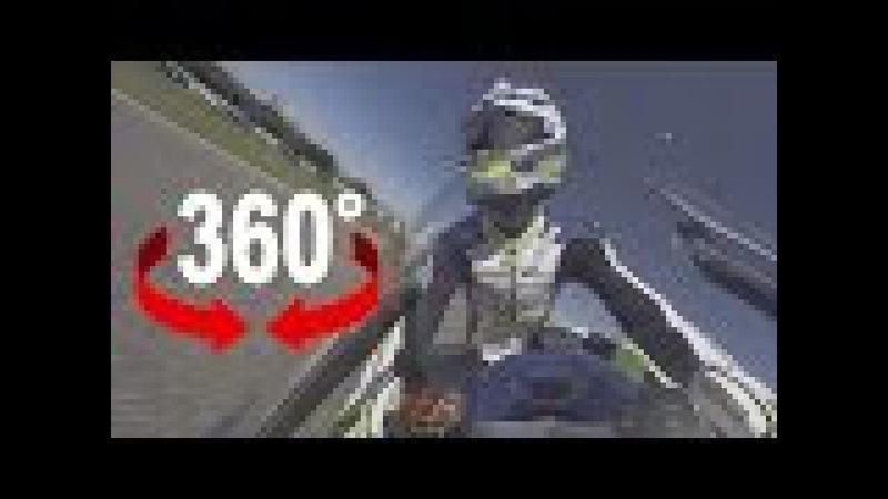 360° Jerez onboard Dominique Aegerter DOMI 77 Training lap