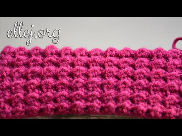 ♦ Плотный Рельефный Узор Крючком Moss Crochet Stitch ellej